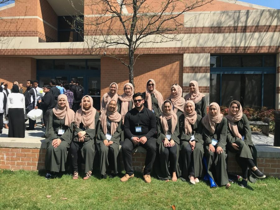 NWHS Muslim Student Association at the Muslim Interscholastic Tournament in April 2019